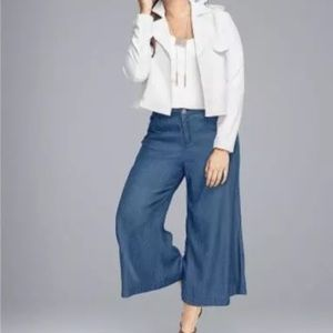 Lane Bryant denim look crop pants size 26